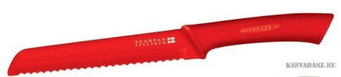 SCANPAN Spectrum kenyérvágó kés - piros