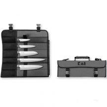KAI Wasabi Black Europa - 5 szakácskés táskával
