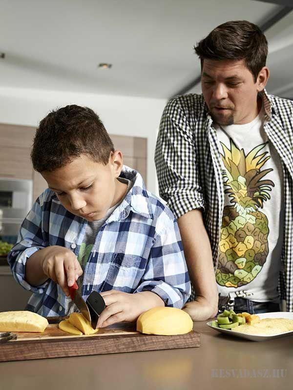 KAI TIM MÄLZER Jr. konyhakés gyerekeknek újjvédővel