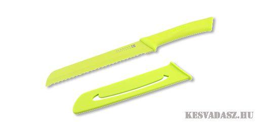 SCANPAN Spectrum kenyérvágó kés - zöld