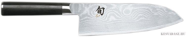 KAI Shun damaszk pengés Wide Santoku kés - 19cm