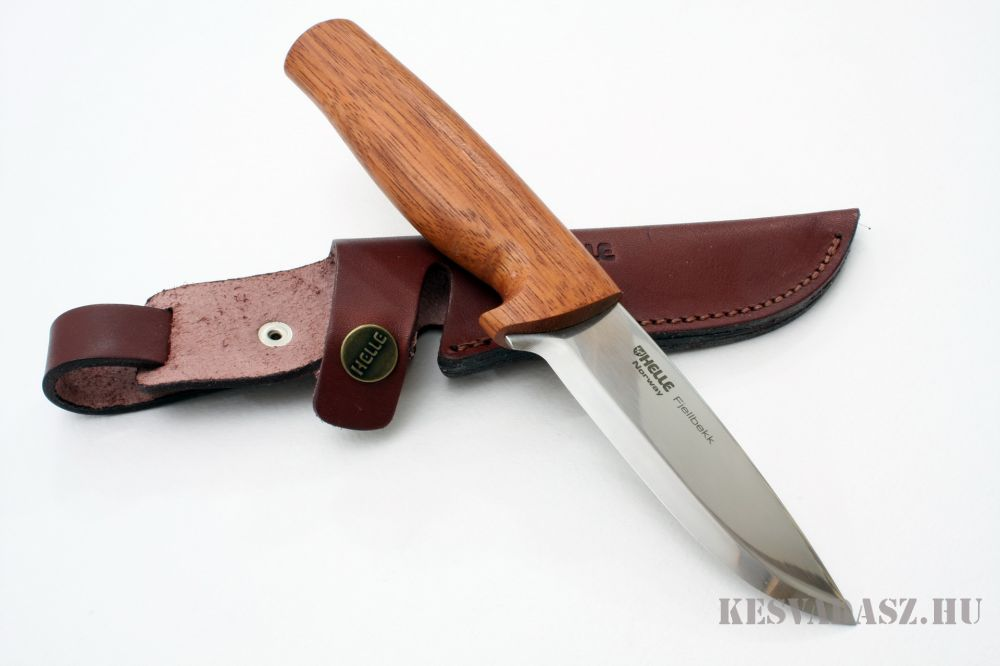 HELLE Fjellbekk outdoor kés bőr tokkal