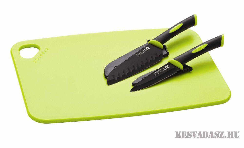 SCANPAN Spectrum vágódeszka 2 darab késsel