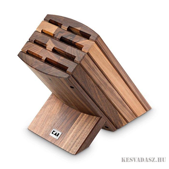 KAI Shun diófa késtartó blokk - 8 részes
