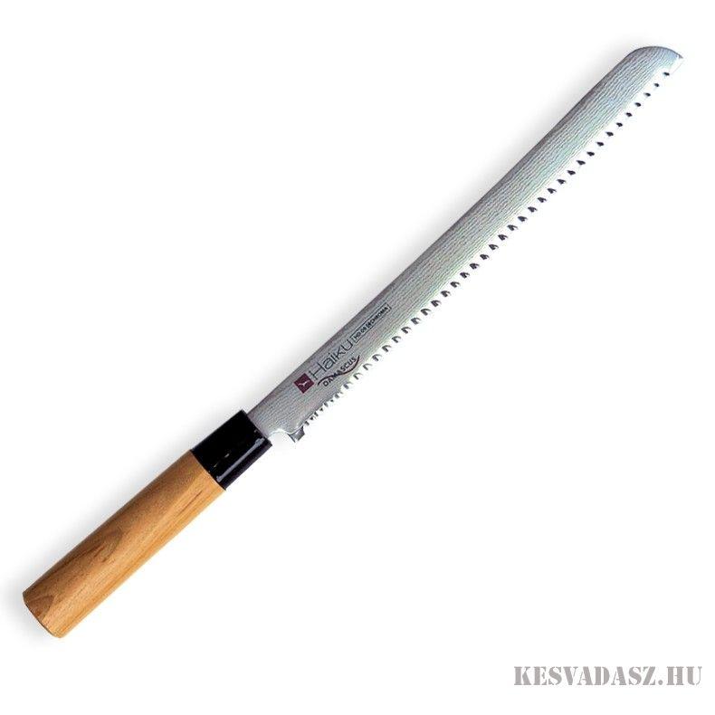 CHROMA Haiku Damascus kenyérvágó kés 25 cm-es
