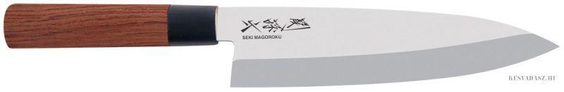 KAI Seki Magoroku Red Wood deba japán konyhakés 21 cm