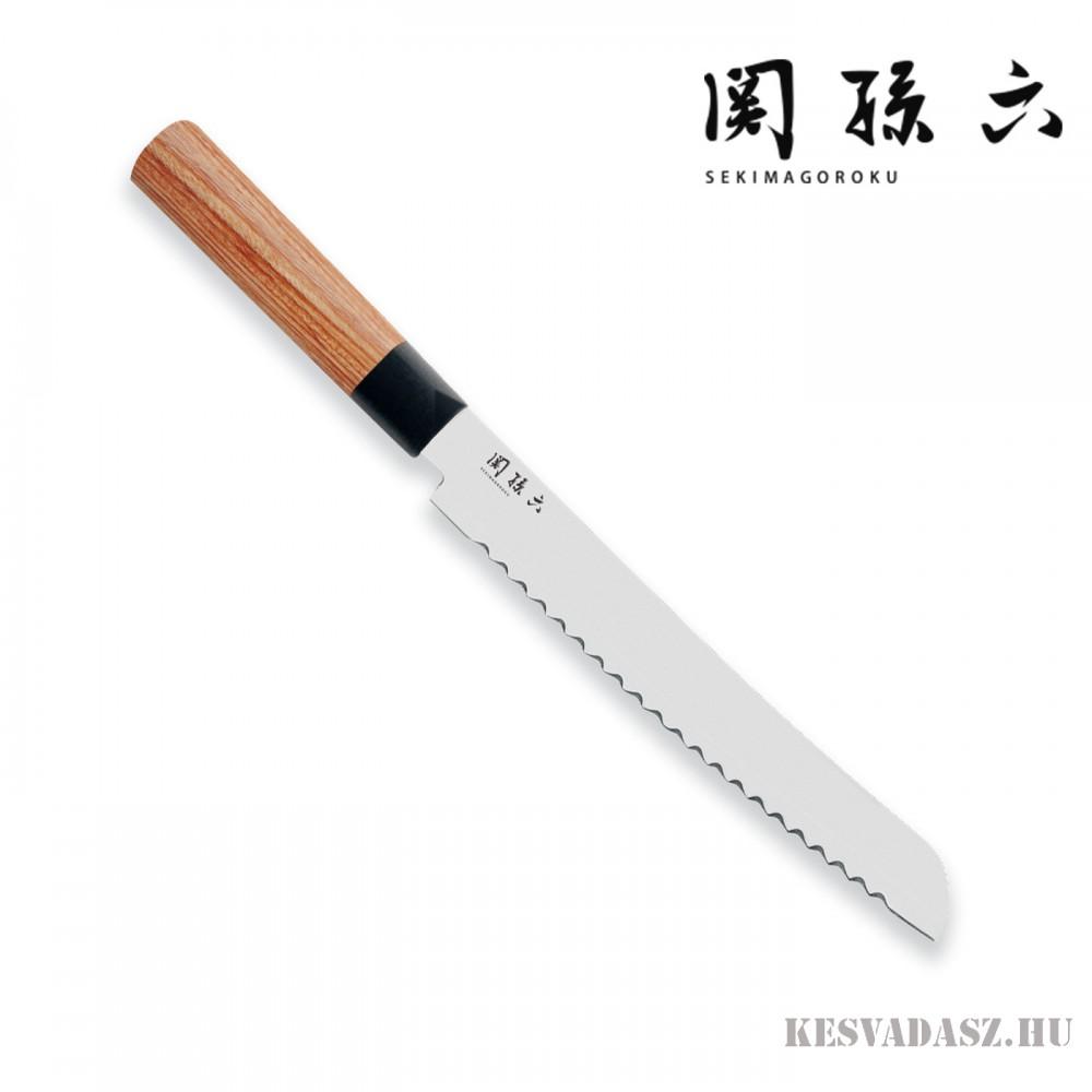 KAI Seki Magoroku Red Wood japán kenyérvágó kés