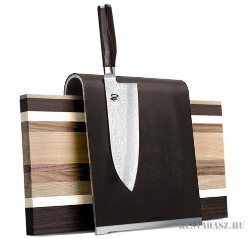 KAI mágneses késtartó és vágódeszka (kések nélkül)