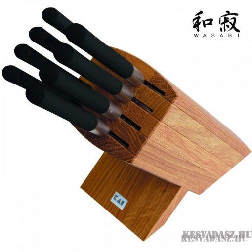 KAI Wasabi Black 8 késes késkészlet késtartó blokkal