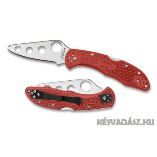 Spyderco Delica4 Trainer zsebkés piros markolattal