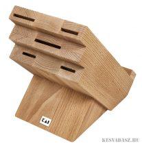 KAI bükk késtartó blokk szakácskönyvtartóval 5 késhez DM-820