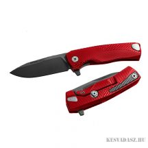LionSteel ROK Aluminium Red zsebkés fekete pengével piros
